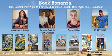Book Bonanza in Saskatoon! 5 Local Authors & 8 Books tickets
