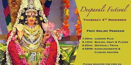 Online Deepavali Festival tickets