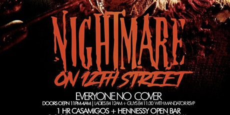 """SWAGGA_L PRESENT """"NIGHTMARE ON 12TH ST"""" FREE W/RSVP + 1HR  OPEN BAR tickets"""