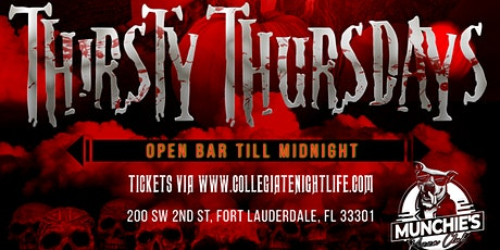 THIRSTY THURSDAYS @ MUNCHIES | COSTUME PARTY tickets
