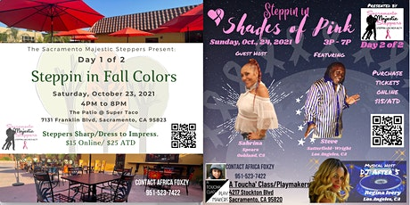 Steppin in Fall Colors and Shades of PInk tickets