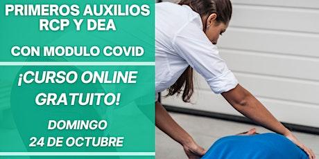 PRIMEROS AUXILIOS, RCP Y DEA - CURSO GRATUITO entradas