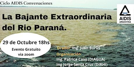 Bajante del Río Paraná entradas