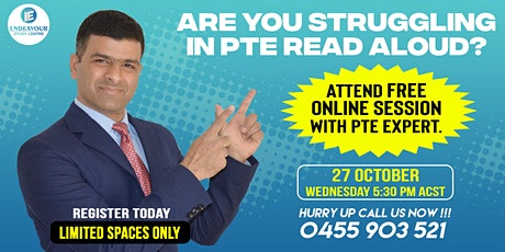 FREE PTE Read Aloud Session! tickets