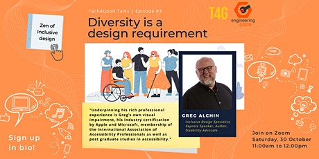 T4G2021- Diversity is a design requirement by Greg Alchin tickets