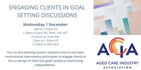 Engaging Clients in Goal Setting Discussions tickets