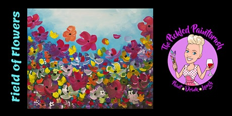 Painting Class - Field of Flowers - CASH BAR - October 24, 2021 tickets