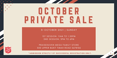 October Private Sale (1st Session) tickets