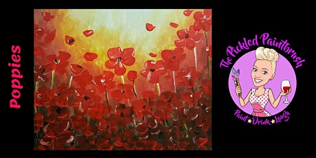 Painting Class - Field of Poppies - CASH BAR - November 6, 2021 tickets