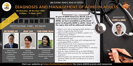 ADHD 101 Series: Diagnosis and Management of ADHD in Adults tickets
