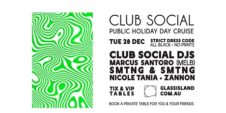 Glass Island - Club Social Public Holiday Day Cruise - Tue 28th December tickets