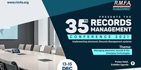 35TH RMFA RECORDS MANAGEMENT CONFERENCE 2021 tickets
