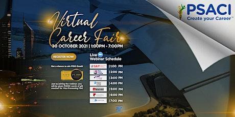 PSACI Virtual Career Fair (Oct 30, 2021) entradas