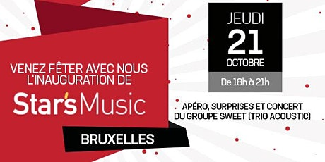 Inauguration du magasin  Star's Music Bruxelles billets