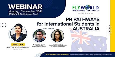 PR Pathways For  International Students in Australia tickets