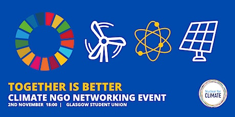 Together is Better: COP26 Climate NGO Networking Event tickets