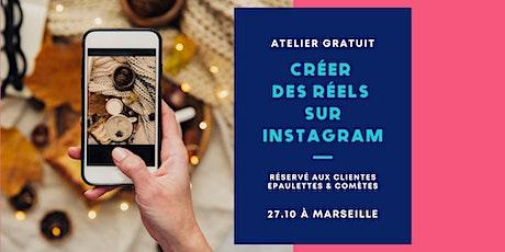 Atelier - Créer des Réels sur Instagram billets