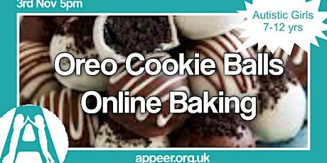 Appeer Girls Online Session, Oreo Cookie Balls ( 7-12yrs) tickets