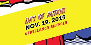 #FreelanceIsntFree Day of Action at Grind