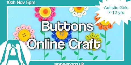 Appeer Girls Online Session, Button Art ( 7-12yrs) tickets