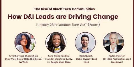 The Rise of Black Tech Communities : How D&I Leads are Driving Change. tickets