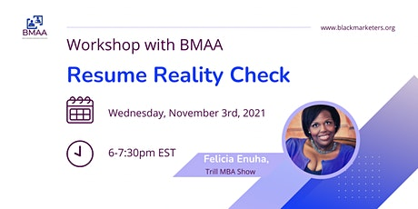 Resume Reality Check Workshop tickets