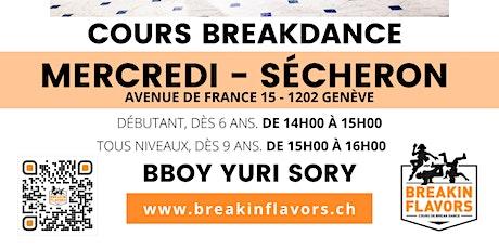 Cours Breakdance Genève Paquis Sécheron billets