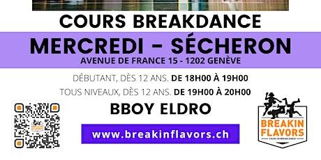 Cours Breakdance Genève Paquis Sécheron 18h-20h billets
