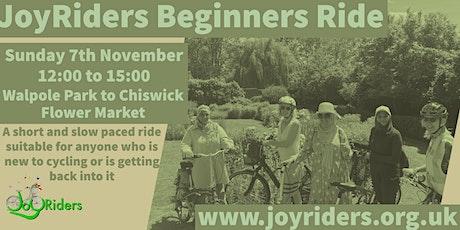 Beginners Bike Ride: Walpole Park to Chiswick Flower Market tickets