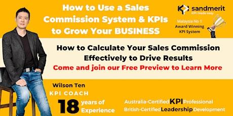 Free Preview: sandmerit KPI Sales Commission System tickets