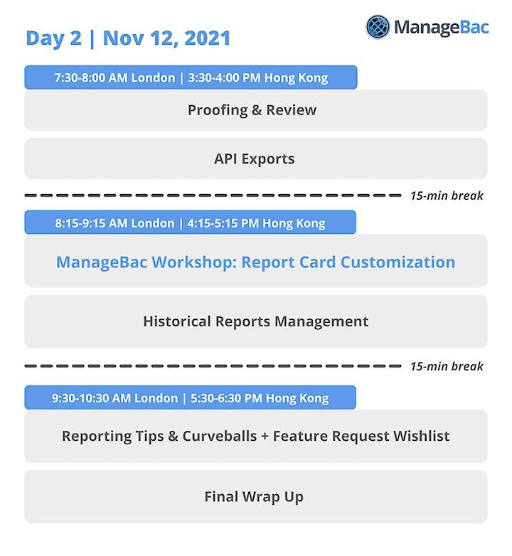 ManageBac Assessment & Reporting Workshop image