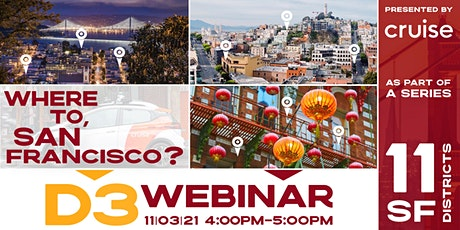 Where To San Francisco? A D3 Discussion about Innovation for Small Business tickets