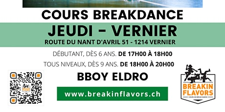 Cours Breakdance Vernier billets