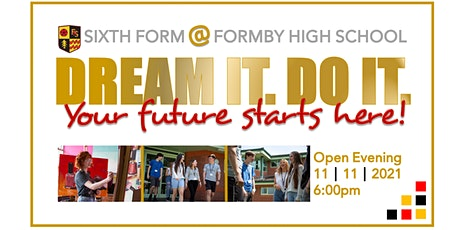 Formby High School Sixth Form Open Evening 2021 tickets