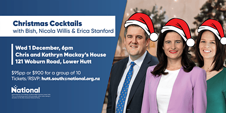 Christmas Cocktails with Bish, Erica and Nicola tickets