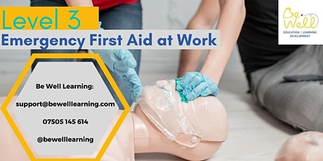 Level 3 Emergency First Aid at Work tickets