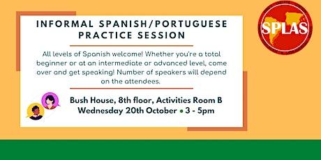 Informal Spanish / Portuguese Language Practice Session tickets