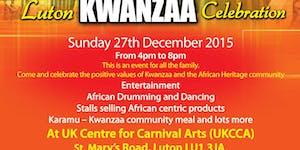 AHN Luton Kwanzaa Celebration Sun 27/12/15 16:00-20:00...