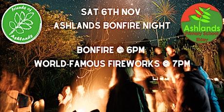 Ashlands Bonfire & Fireworks tickets