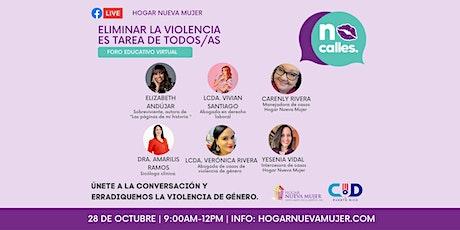 Foro Educativo Virtual: Eliminar la violencia es tarea de todos/as entradas