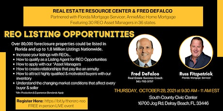 REO LISTING OPPORTUNITIES tickets