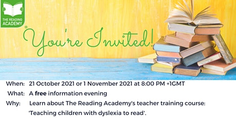 Learn  about our teacher course: 'Teaching children with dyslexia to read' tickets