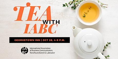 Tea with IABC tickets