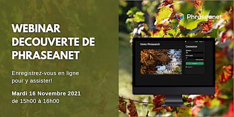 Webinar Phraseanet, Mardi 16 Novembre 2021 billets