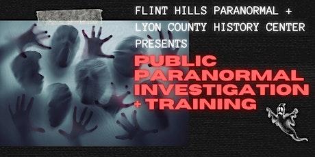 Paranormal Investigation + Training tickets