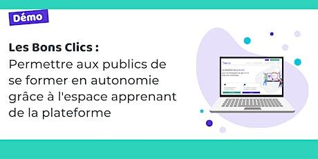 Démo : permettre aux publics de se former en autonomie via Les Bons Clics billets