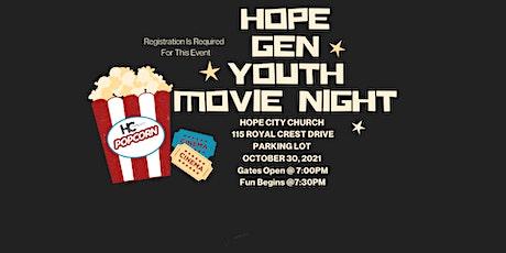 Hope Gen Youth Movie  Night tickets