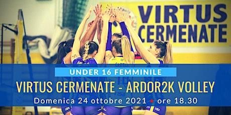U16f: Virtus Cermenate - Ardor2K Volley Mariano biglietti