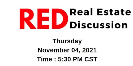 RED Talk Real Estate Discussion (Live Event) tickets