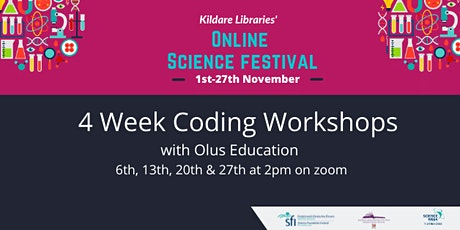4 Week Introduction to Coding workshops tickets